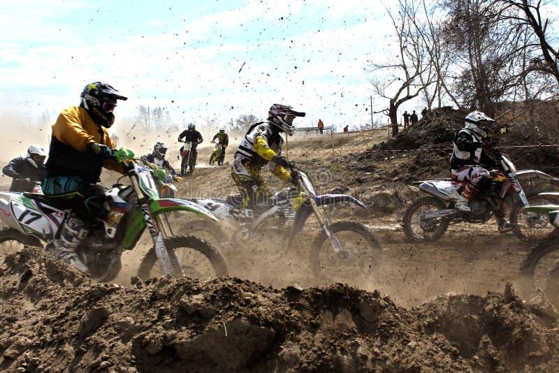 L'inizio della concorrenza nel motocross fotografia stock libera da diritti