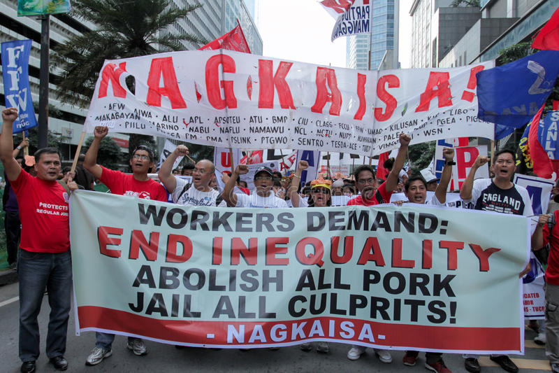 L'innesto e la corruzione protestano a Manila, le Filippine immagini stock libere da diritti