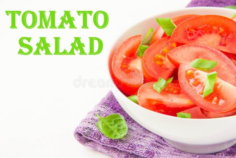 Download L'insalata Dai Pomodori Freschi, Balza Cipolle Verdi E Pepe Nero Immagine Stock - Immagine di cucina, parti: 30826283