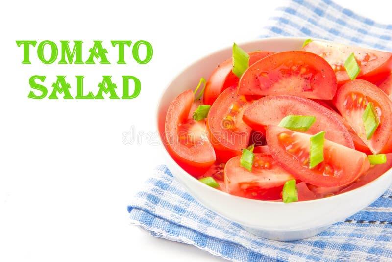 Download L'insalata Dai Pomodori Freschi, Balza Cipolle Verdi E Pepe Nero Fotografia Stock - Immagine di dieta, gourmet: 30826288