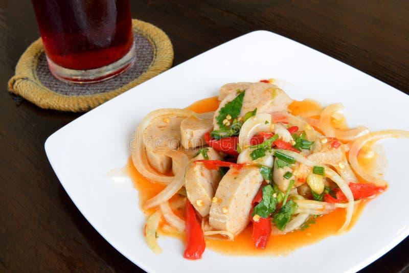 L'insalata piccante del porco di tritatura, alimento tailandese immagine stock