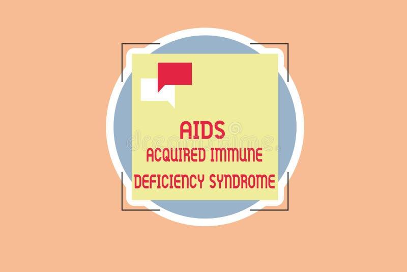 L'inscription de l'apparence de note facilite le syndrome d'immunodéficience acquise Photo d'affaires présentant l'étape sérieuse illustration stock