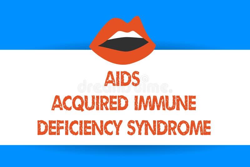 L'inscription de l'apparence de note facilite le syndrome d'immunodéficience acquise Photo d'affaires présentant l'étape sérieuse illustration libre de droits