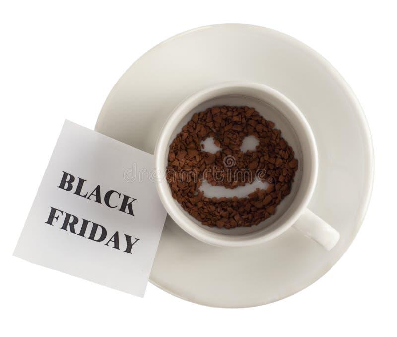 L'inscription de Black Friday sur un morceau de papier photos libres de droits
