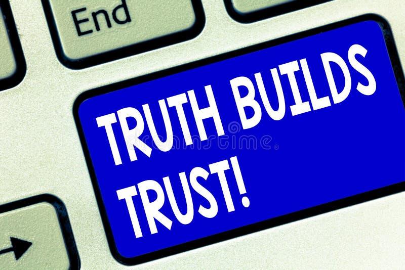 L'inscription de la vérité d'apparence de note construit la photo d'affaires de confiance vous présentant pensent qu'ils sont fia illustration de vecteur