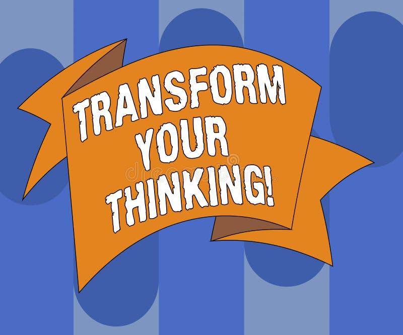 L'inscription des textes d'écriture transforment votre pensée Le concept signifiant le changement votre esprit ou pensées vers de illustration libre de droits