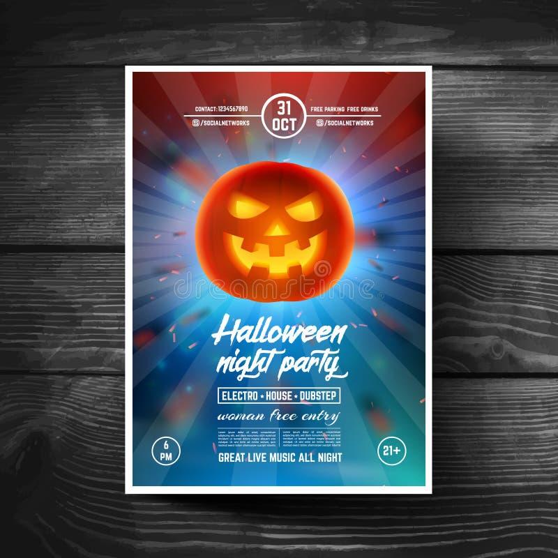 L'insecte de partie de Halloween, couvertures, bannières, brochure, affiches, présentations, s'enroulent image stock