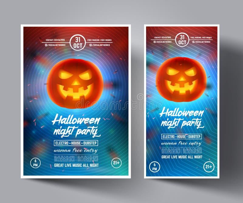 L'insecte de partie de nuit de Halloween ou les couvertures, bannières, brochure, affiches, présentations et s'enroulent photos stock