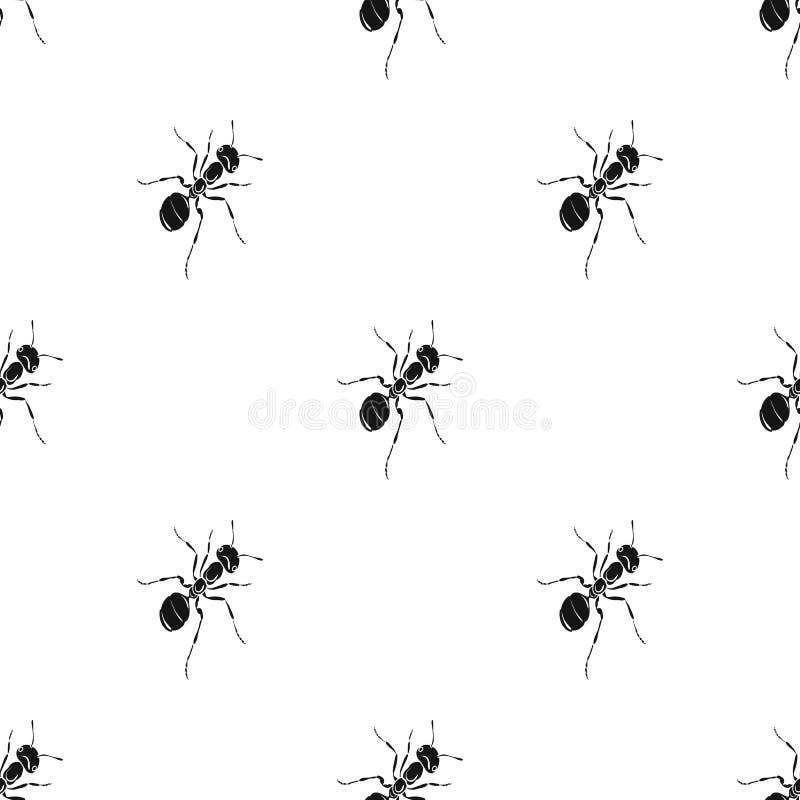 L'insecte hyménoptère est une fourmi Icône simple de fourmi animale d'arthropode en stock noir de symbole de vecteur de style iso illustration libre de droits