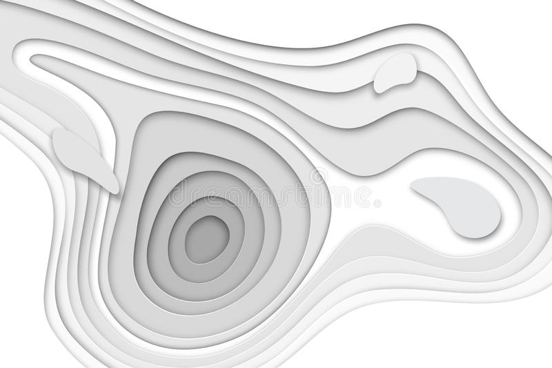 l'insegna del papercut 3D del Libro Bianco di pendenza mette a strati La progettazione del fondo di vettore degli origami lisci a royalty illustrazione gratis