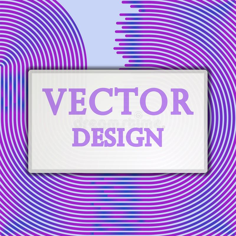 L'insegna dell'illustrazione dell'estratto di vettore, manifesto ha colorato le bande, linee con spazio per testo illustrazione di stock