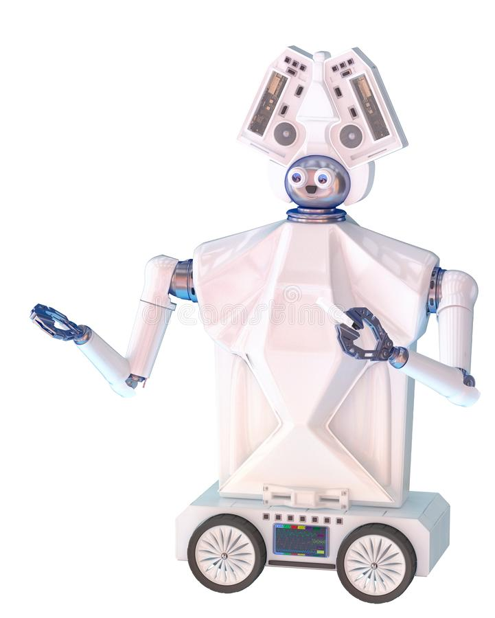 L'insegnante dell'artista del robot può insegnare ai bambini fotografia stock libera da diritti