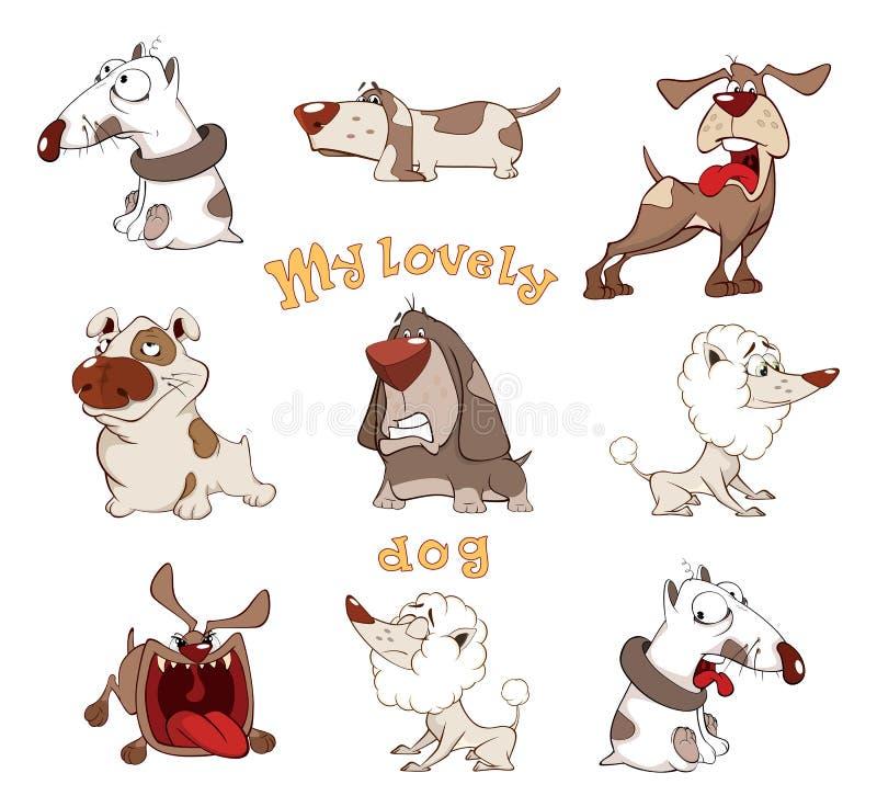 L'insieme dei cani svegli per voi progetta il fumetto royalty illustrazione gratis