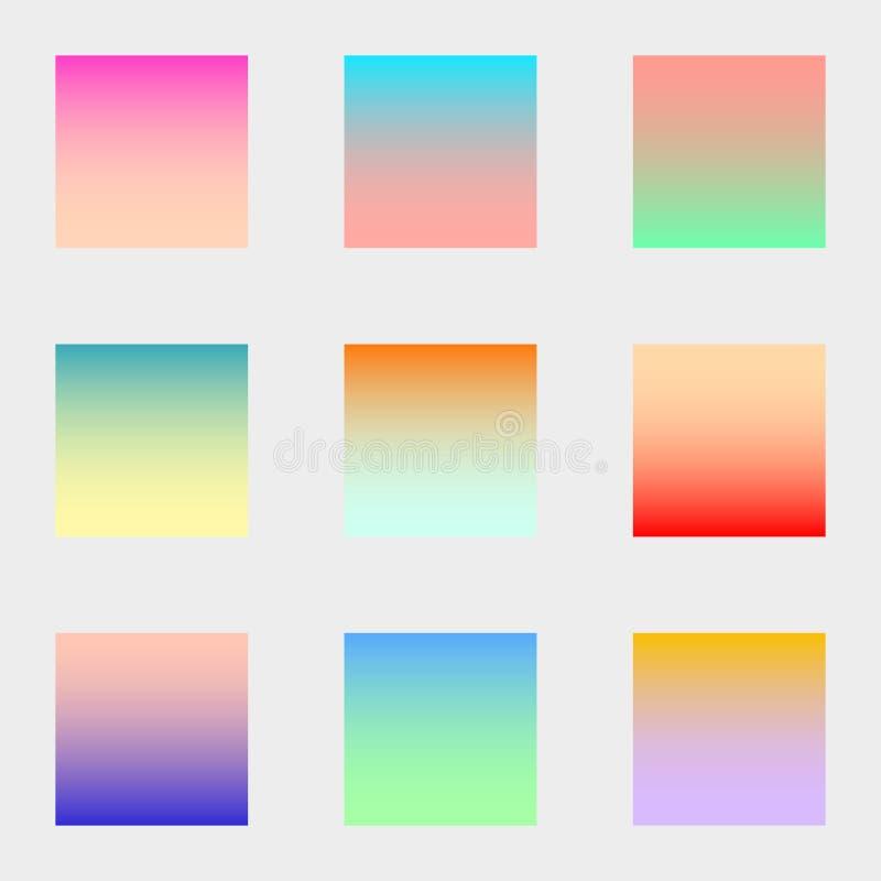 L'insieme dei quadrati ha offuscato gli ambiti di provenienza astratti moderni variopinti della natura di pendenza Coperture vari illustrazione vettoriale
