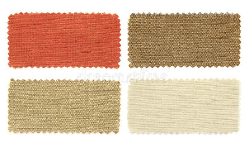 L'insieme del campione del tessuto prova la struttura fotografia stock libera da diritti