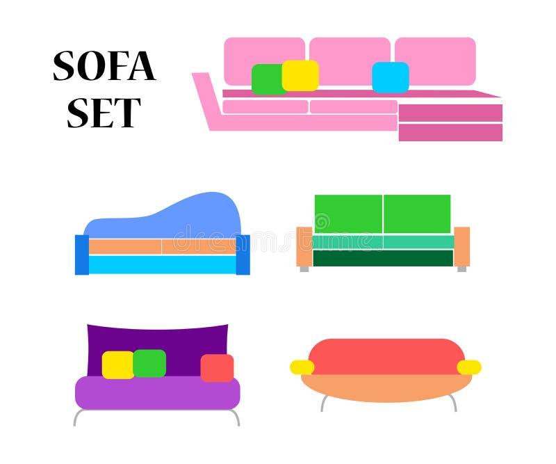L'insieme del sofà illustrazione di stock