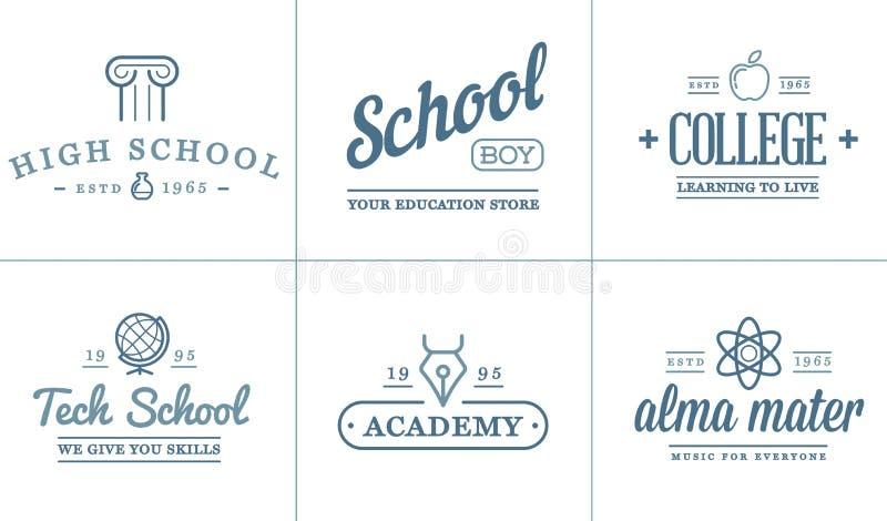 L'insieme dell'illustrazione delle icone di istruzione di vettore può essere usato come logo illustrazione di stock