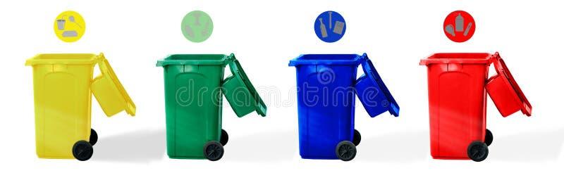 L'insieme di ricicla il recipiente fotografie stock libere da diritti