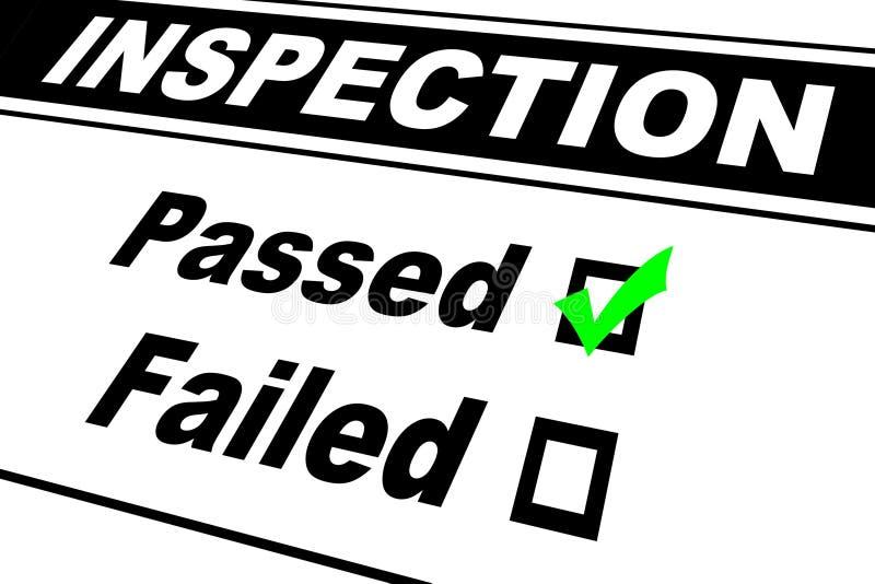 l'inspection a passé des résultats photos libres de droits