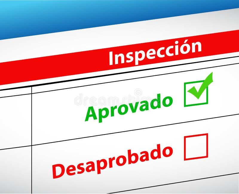 L'inspection résulte sélection passé et d'échouer illustration libre de droits