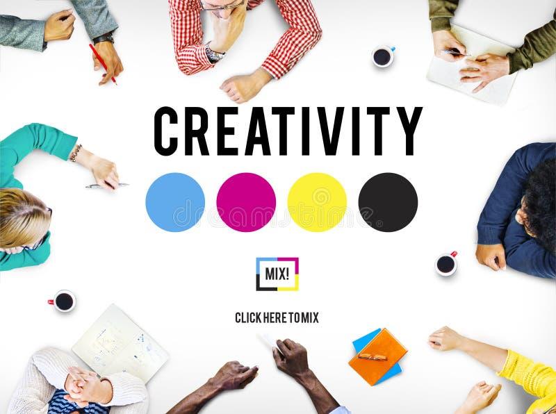 L'inspiration d'aspiration de créativité inspirent le concept de qualifications photographie stock libre de droits