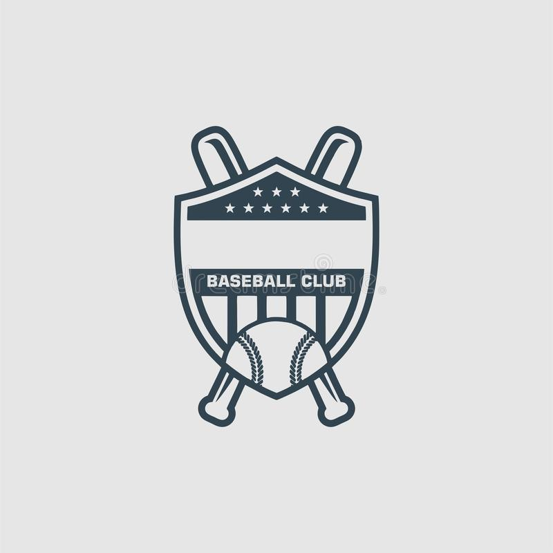 L'inspiration de logo de club de base-ball illustration stock