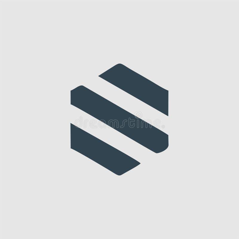 L'inspiration de logo de monogramme de S illustration libre de droits