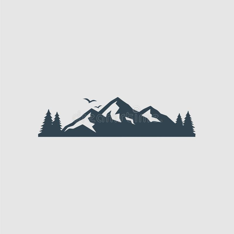 L'inspiration de logo de montagnes illustration stock
