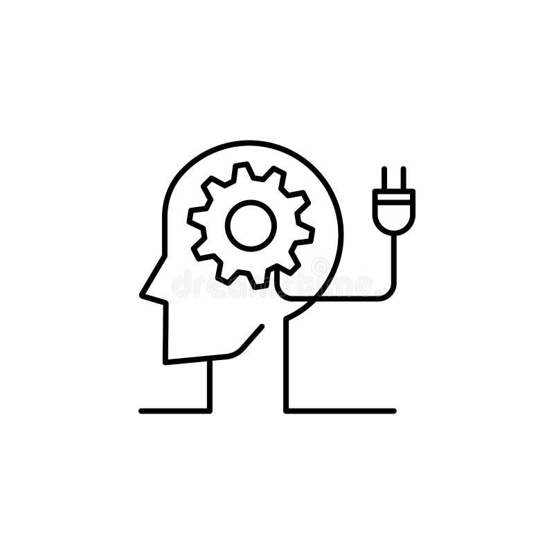 L'inspiration, l'esprit, l'équipement, l'icône de l'homme. Élément de l'icône de la ligne de concentration illustration de vecteur