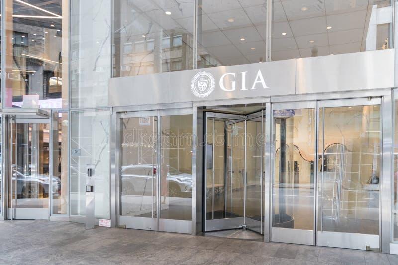 L'institut de Gemological de laboratoire de surface intérieure brute de l'Amérique à New York images libres de droits