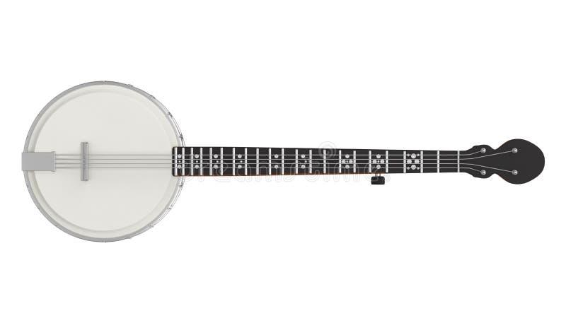 L'instrument de musique de banjo a isolé illustration libre de droits