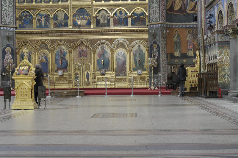 L'intérieur de cathédrale de trinité sainte, Sibiu photos libres de droits