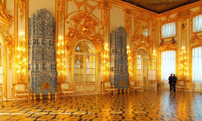 L'intérieur de Catherine Palace dans Tsarskoye Selo Pushkin images libres de droits