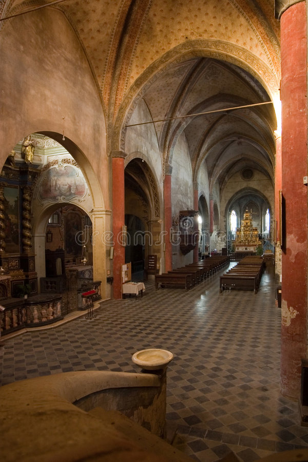 L'intérieur de l'église photos libres de droits