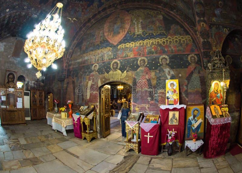L'intérieur de l'église du monastère Bachkovski image libre de droits