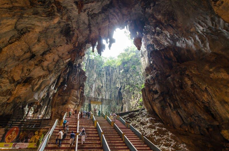 L'intérieur du Batu foudroie Kuala Lumpur, Malaisie photo stock