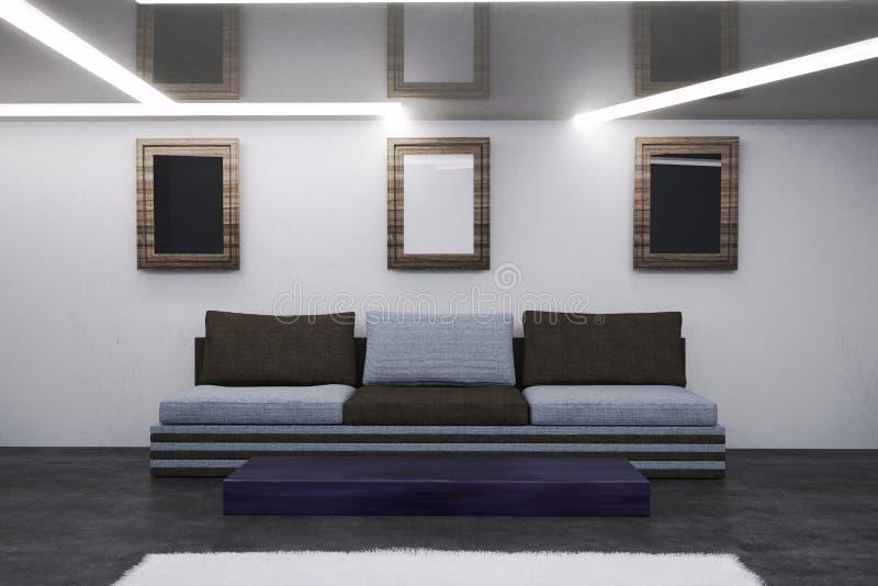 L'intérieur du salon dans le style de pointe illustration de vecteur