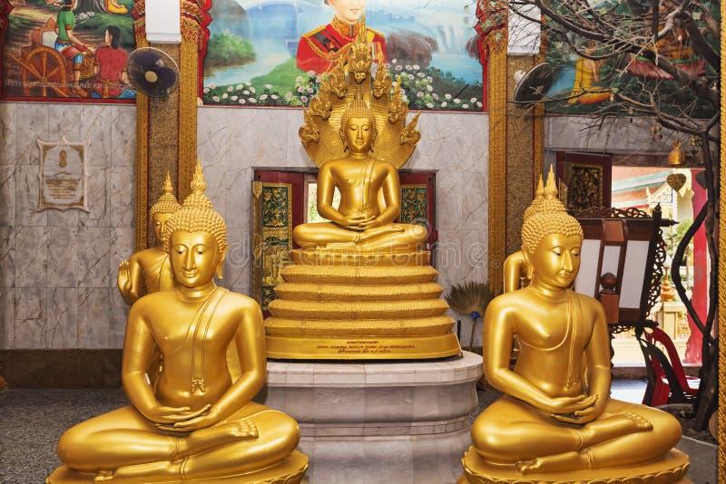 L'intérieur du temple de Wat Chalong a également appelé grand Chedi, Puhket - Thaïlande image libre de droits