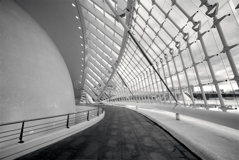 L' intérieur ; Hemisferic dans la ville des arts et des sciences images stock