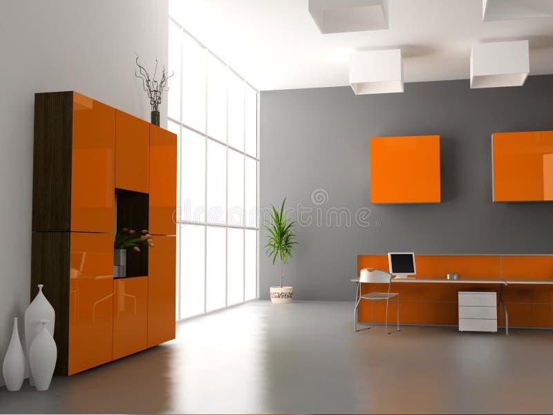L'intérieur moderne de bureau illustration stock