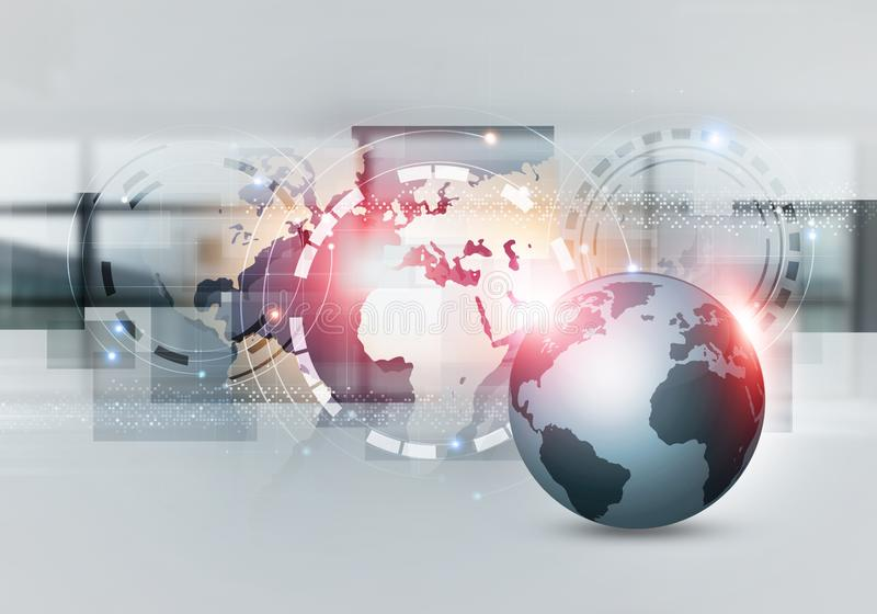 L'interfaccia di web ha mescolato i media illustrazione di stock