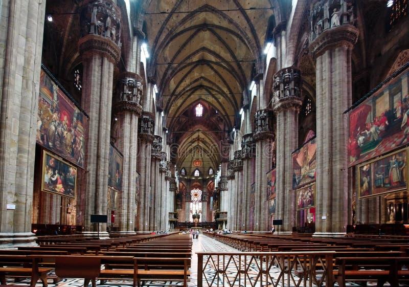 L'interiore del Duomo Milano fotografie stock libere da diritti