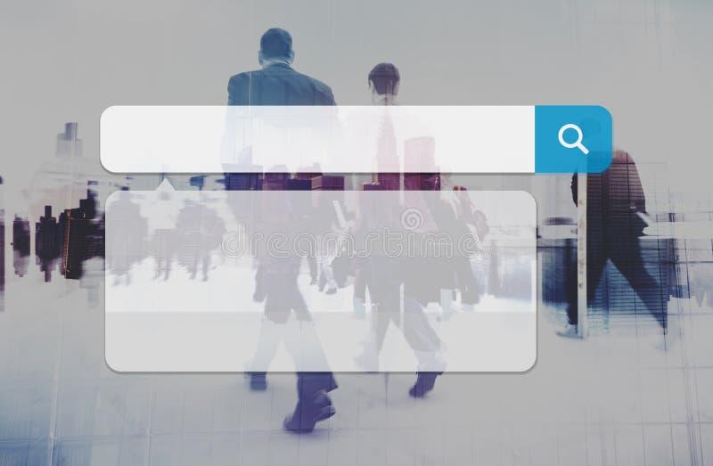 L'Internet de technologie de boîte de recherche passent en revue le concept en ligne de lecture rapide image stock