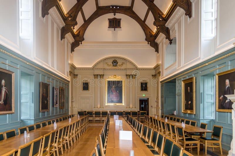 L'interno del collage della trinità, Cambridge, Regno Unito immagini stock