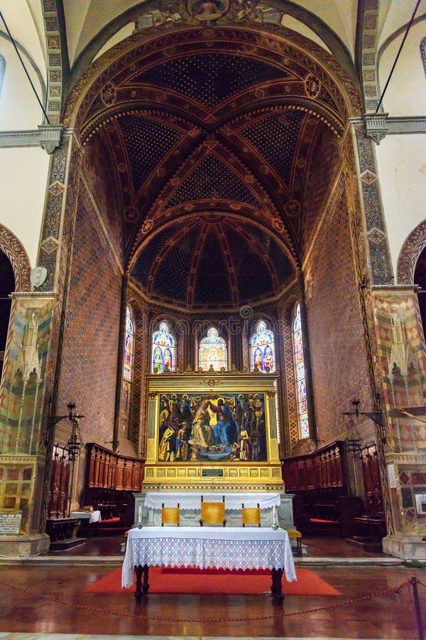L'interno del dei Servi di Maria della basilica è chiesa a Siena L'Italia immagini stock libere da diritti