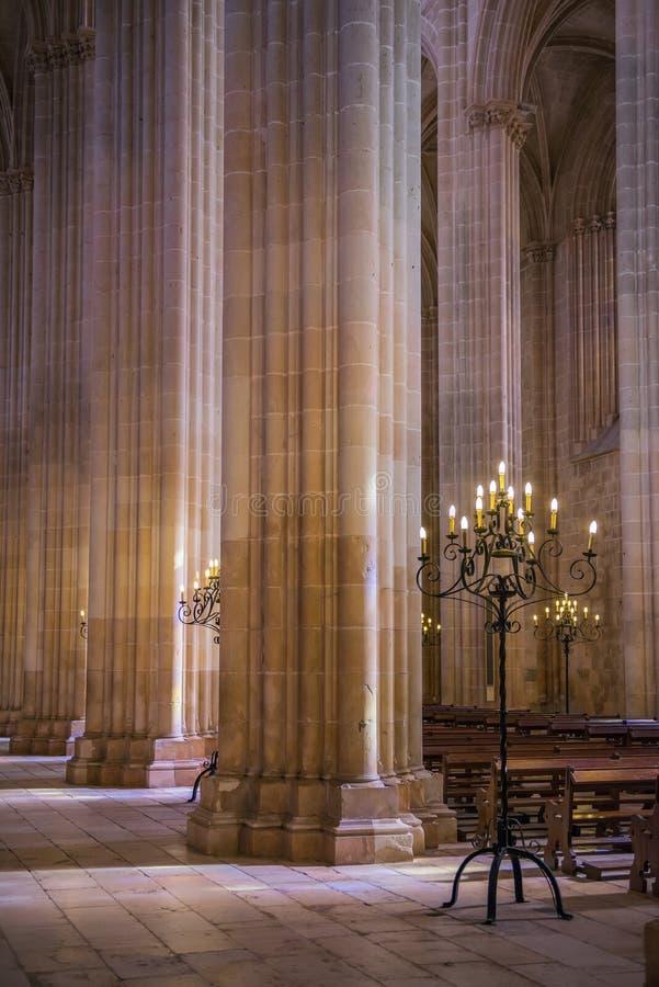 L'interno del monastero di Batalha, Portogallo fotografia stock libera da diritti