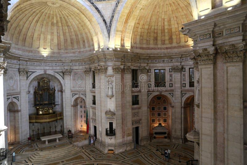 L'interno del panteon nazionale nella chiesa del ¡ CIA, Lisbona di Santa Engrà immagine stock