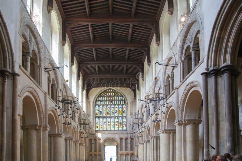 L'interno della cattedrale di Rochester è l'Inghilterra in secondo luogo più vecchia, essendo fondando in 604AD immagine stock libera da diritti