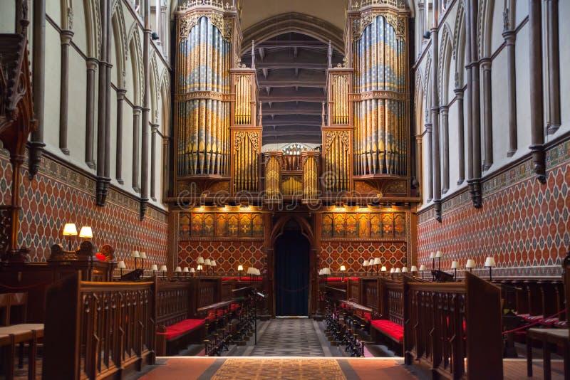 L'interno della cattedrale di Rochester è l'Inghilterra in secondo luogo più vecchia, essendo fondando in 604AD fotografie stock libere da diritti