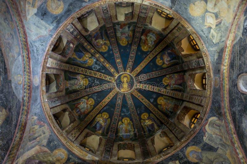 L'interno della chiesa di Chora a Costantinopoli, Turchia immagini stock libere da diritti